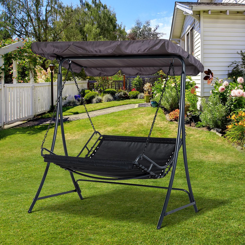 Gartenliege 2 personen dach  Schwingliege mit Dach Hollywoodschaukel Gartenliege für 2 Personen ...