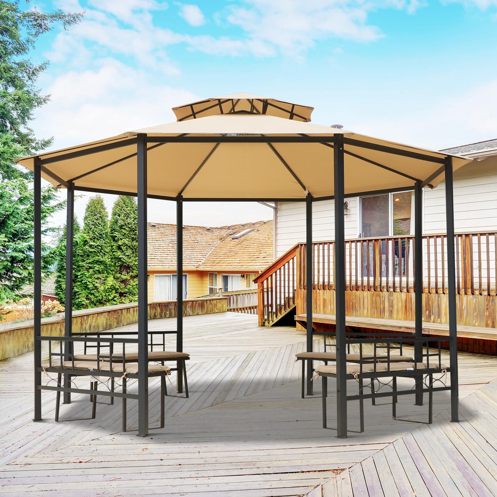 Festzelt 9x3 m Partyzelt 8 Seitenwände Blau Gartenzelt wasserabweisend Pavillon