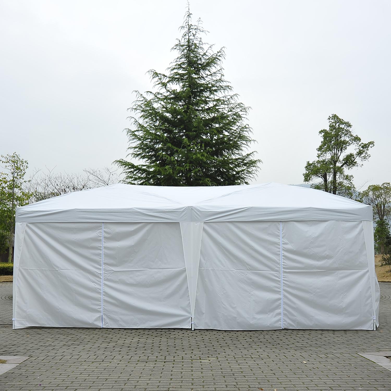 Indexbild 18 - Outsunny 3x6m Faltpavillon Pavillon Zelt Partyzelt Gartenzelt Faltbar Weiß/Blau