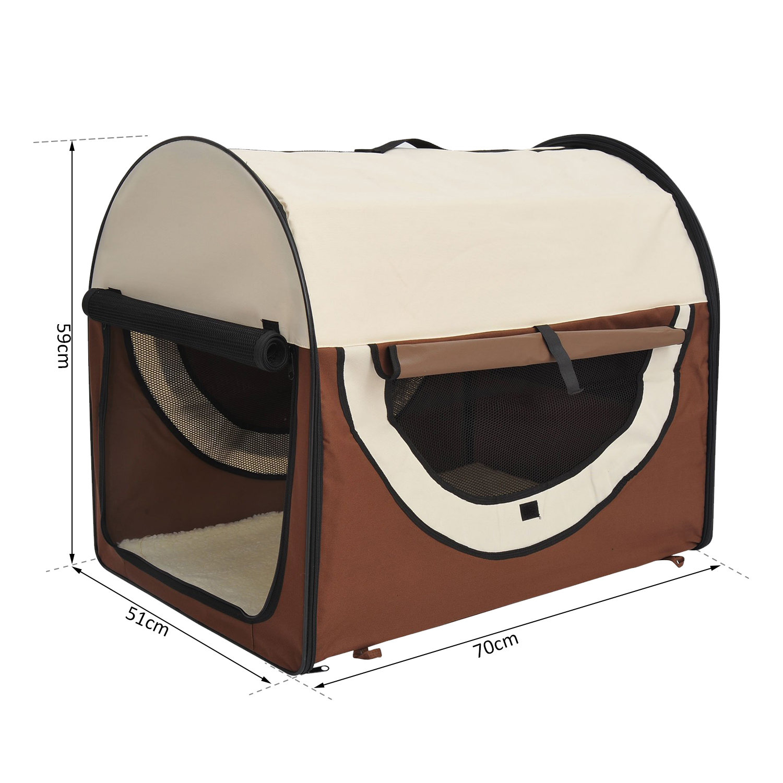 PawHut-Hundebox-faltbare-Hundetransportbox-Transportbox-Tier-2-Farben-5-Groessen Indexbild 20