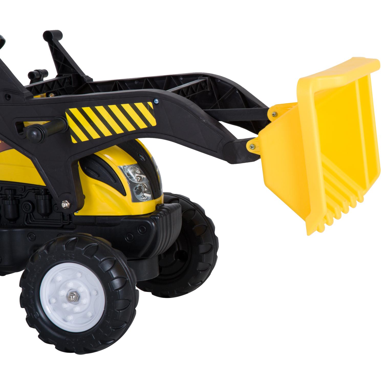 HOMCOM Trattore a Pedali con Escavatore per Bambini 114 × 41 × 52cm