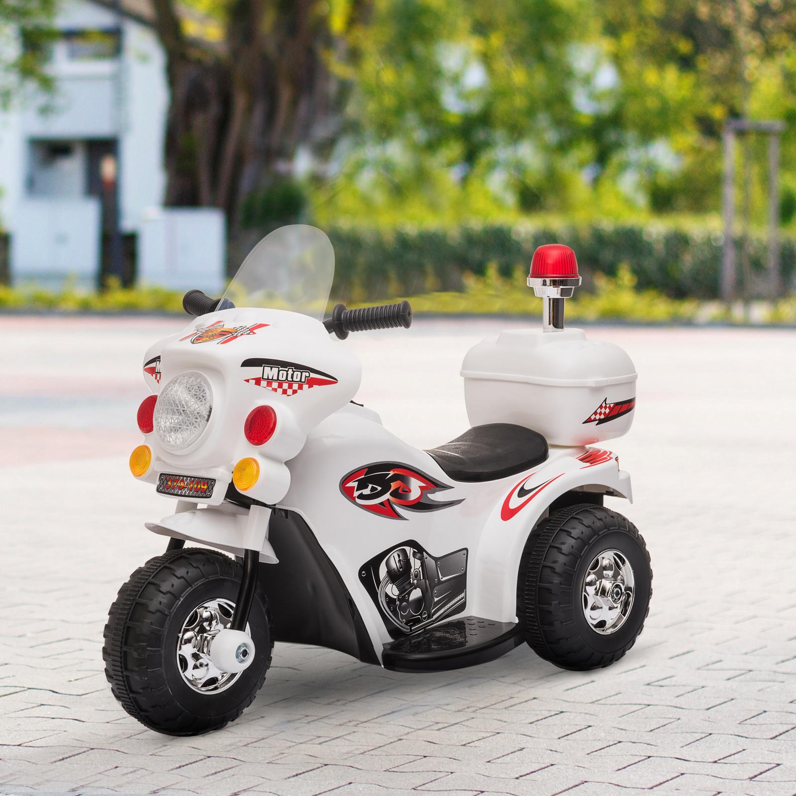 HOMCOM Moto Elettrica per bambini 18-36 mesi 6V a batteria con luce musica MP3