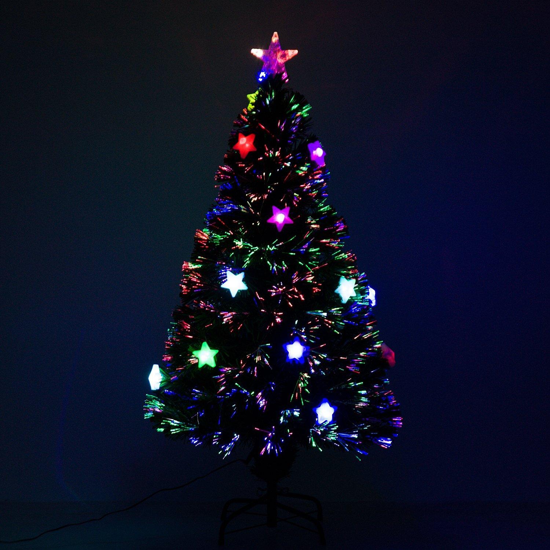 Albero Di Natale Fibra Ottica 180 Cm.Homcom Albero Di Natale Con Luci Led 120 150 180cm Artificiale In Fibra Ottica Ebay