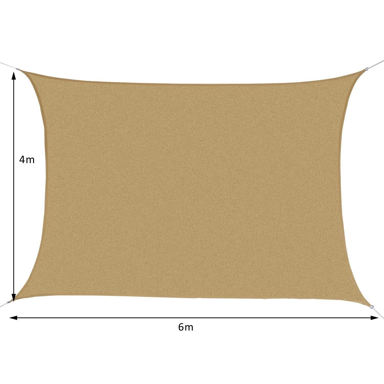 Cortile Colore Sabbia per Esterni Giardino AXT SHADE Tenda a Vela Impermeabile Quadrato 2 x 2m Parasole e Protezione Raggi UV