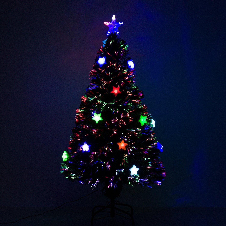 Albero Di Natale Kenia.Homcom Albero Di Natale Con Luci Led 120 150 180cm Artificiale In Fibra Ottica Ebay