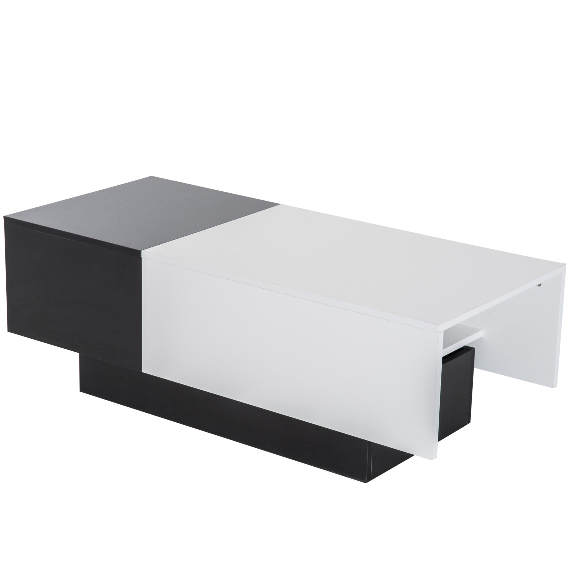 Tavolo Salotto Estendibile.Dettagli Su Homcom Tavolino Da Salotto Soggiorno Spazio Portaoggetti Moderno Estendibile
