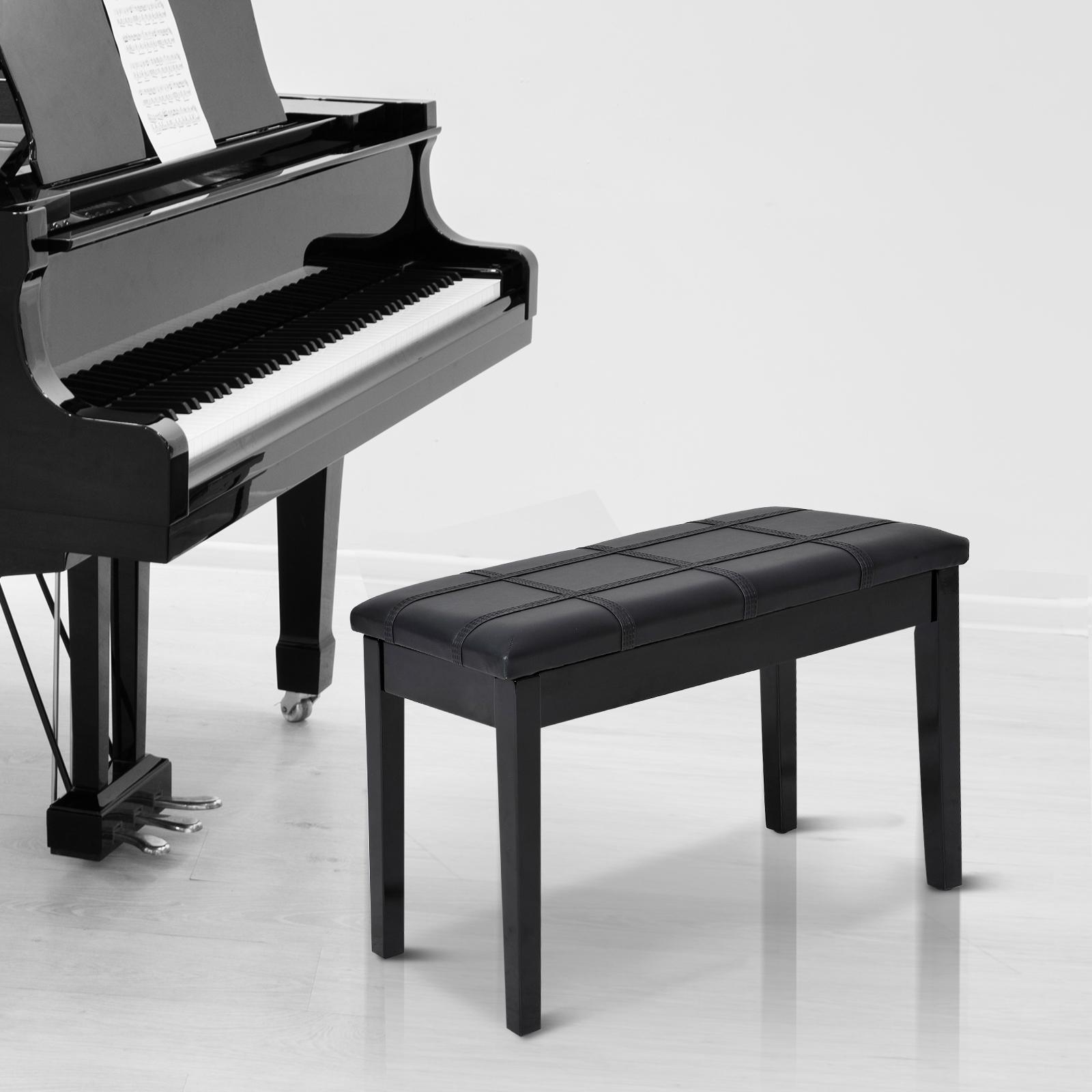 Panca-Sgabello-per-Pianoforte-con-Vano-Portaoggetti-Portata-140kg miniatura 12