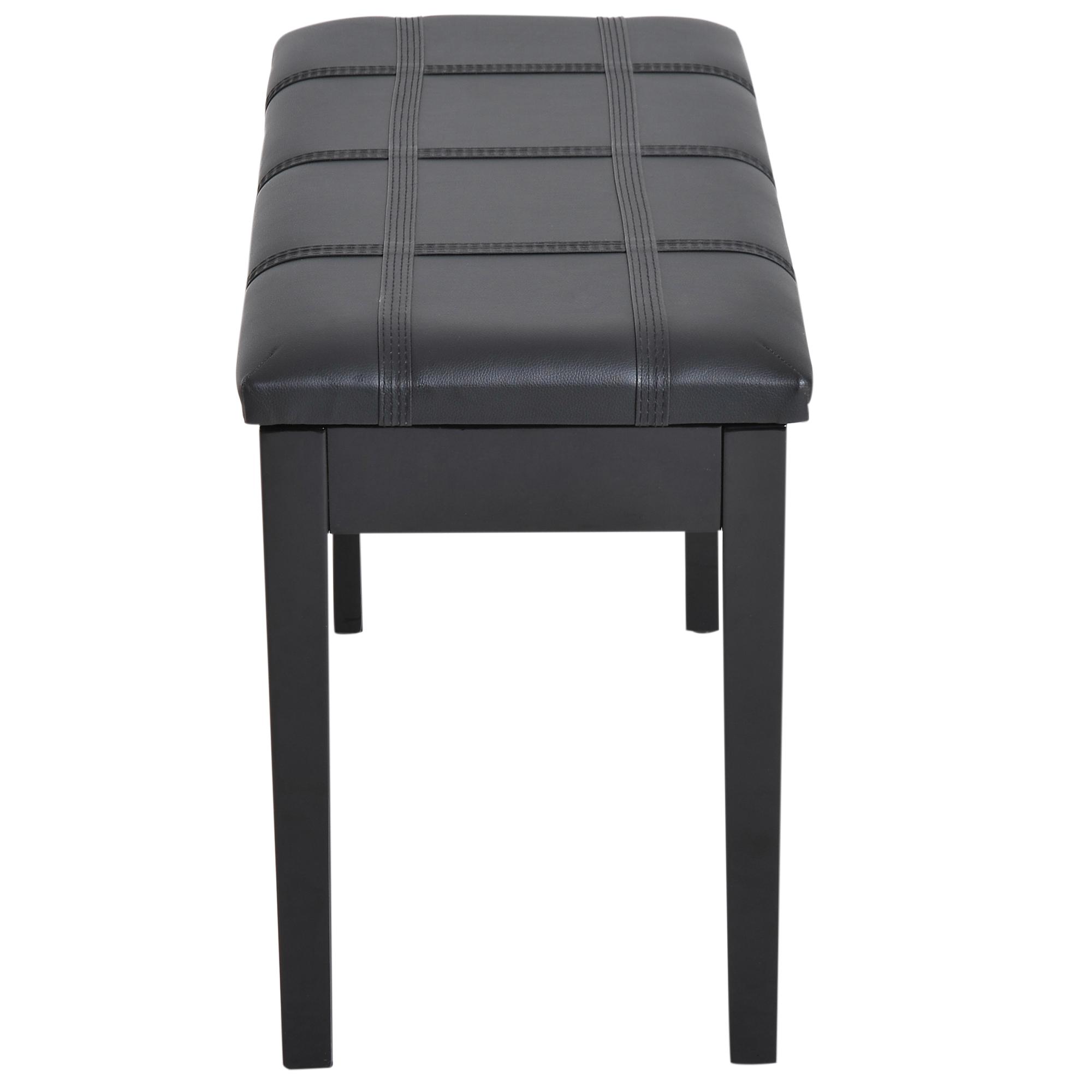 Panca-Sgabello-per-Pianoforte-con-Vano-Portaoggetti-Portata-140kg miniatura 16