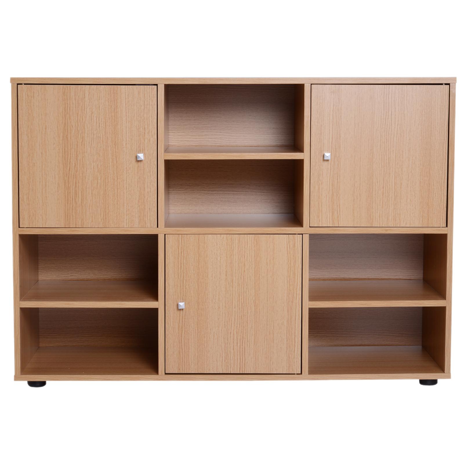 Homcom mobile libreria scaffale 6 cubi da ingresso ufficio for Cubi in legno arredamento