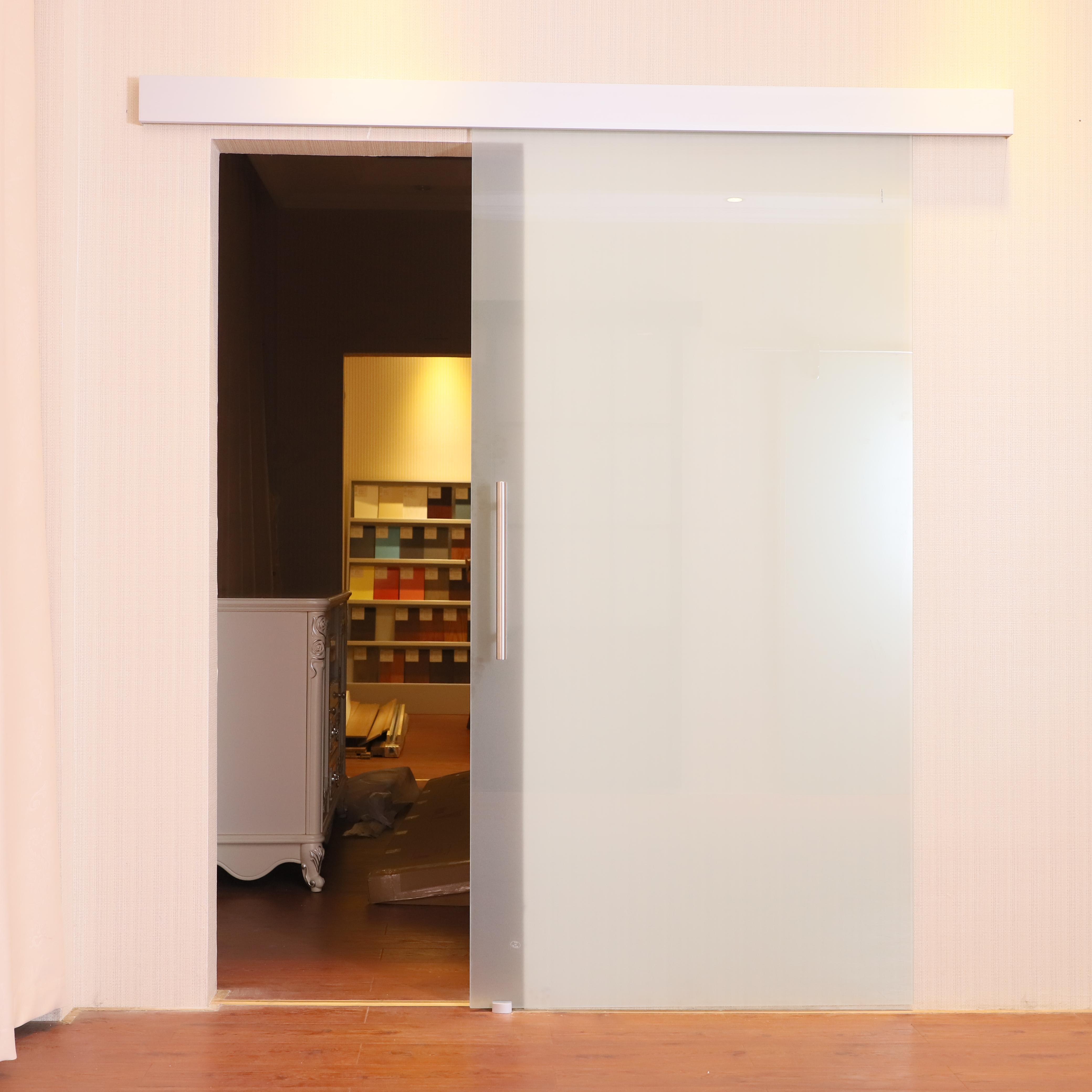 HOMCOM Porta scorrevole con Binario Silenzioso e Maniglia in vetro ...