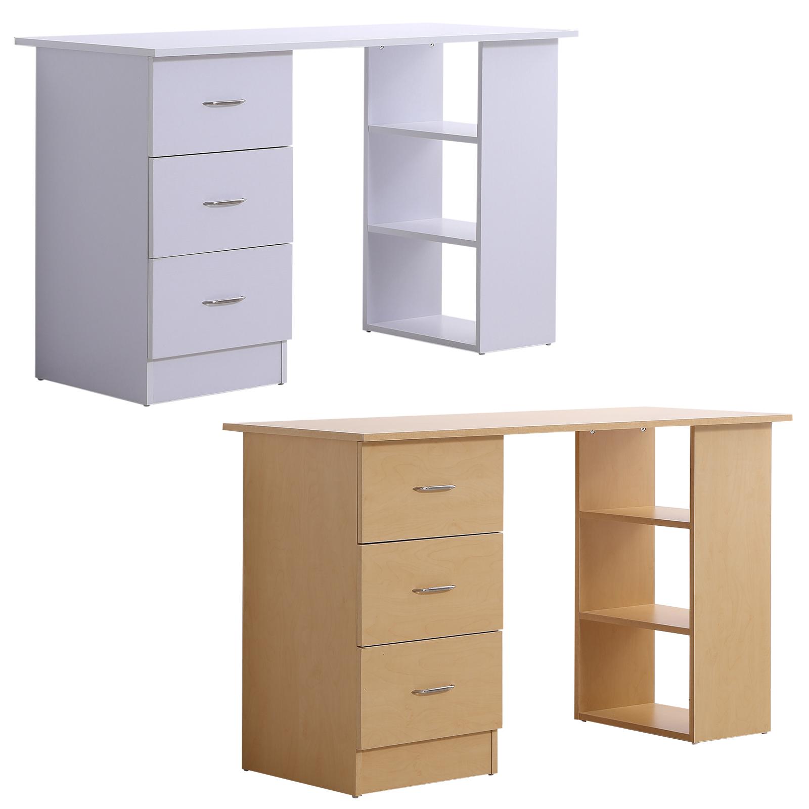 Scrivania Porta Pc Valentini.Homcom Desk Door Pc With 3 Drawers 3 Shelves To Wood Office Ebay