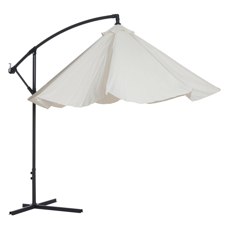 Outsunny-10-039-Deluxe-Patio-Umbrella-Outdoor-Market-Parasol-Banana-Hanging-Offset thumbnail 8