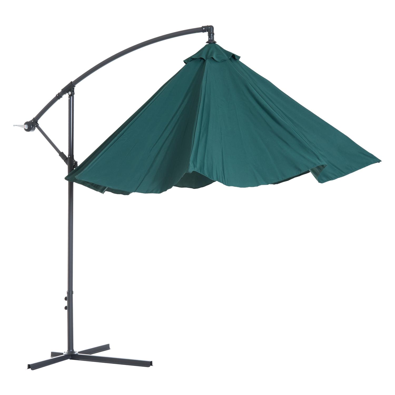 Outsunny-10-039-Deluxe-Patio-Umbrella-Outdoor-Market-Parasol-Banana-Hanging-Offset thumbnail 28