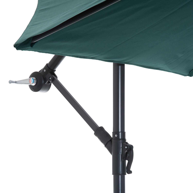 Outsunny-10-039-Deluxe-Patio-Umbrella-Outdoor-Market-Parasol-Banana-Hanging-Offset thumbnail 29