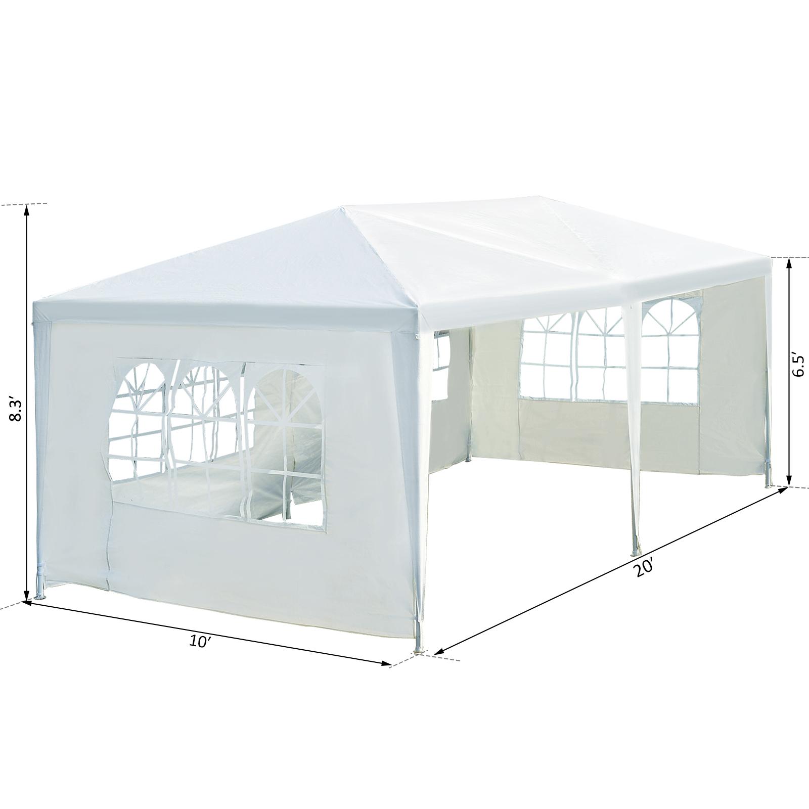 10-x-20-039-10-x-30-039-Party-Wedding-Tent-Outdoor-Gazebo-Canopy-Tent-w-Sidewalls thumbnail 3