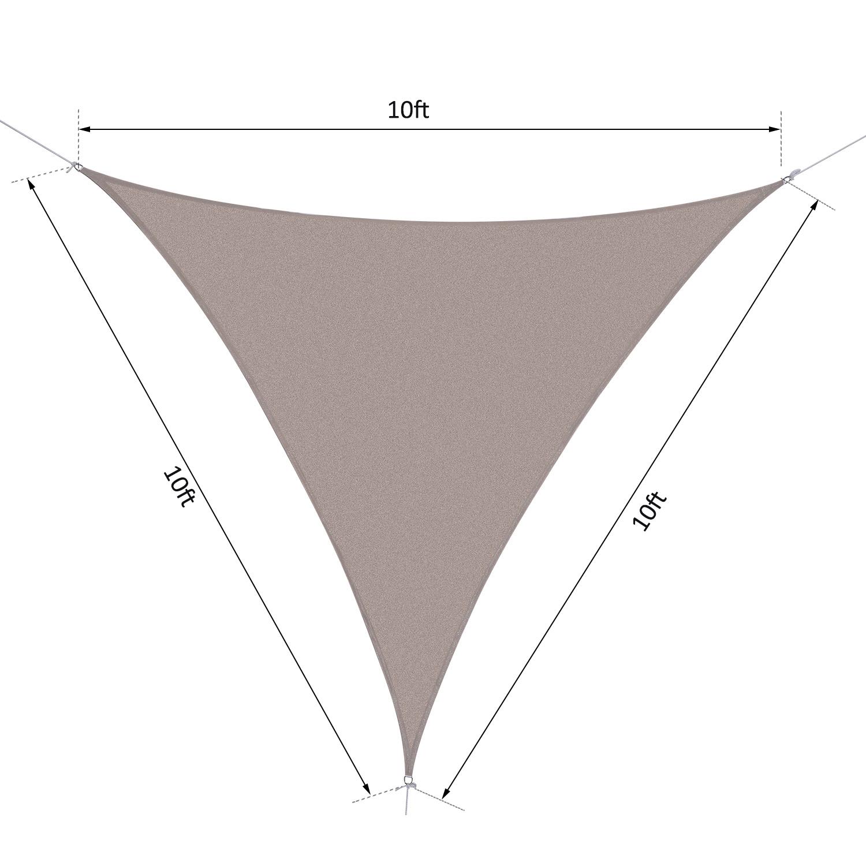 Outsunny-Triangle-10-039-Patio-Canopy-Sun-Sail-Shade-Garden-Party-Cover-Outdoor thumbnail 8