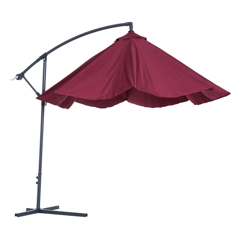 Outsunny-10-039-Deluxe-Patio-Umbrella-Outdoor-Market-Parasol-Banana-Hanging-Offset thumbnail 40