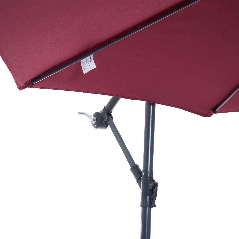 Outsunny-10-039-Deluxe-Patio-Umbrella-Outdoor-Market-Parasol-Banana-Hanging-Offset thumbnail 42