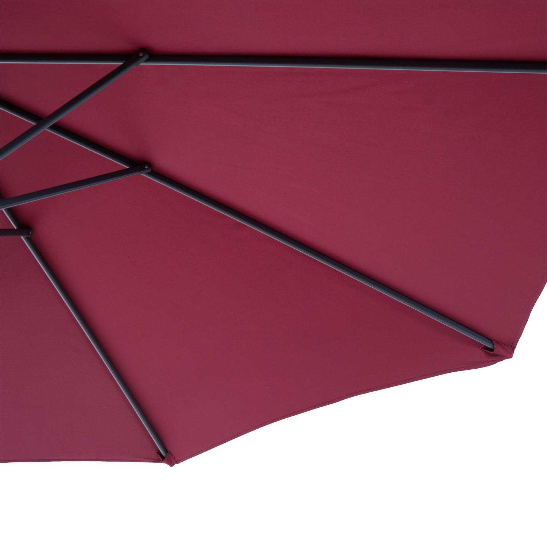 Outsunny-10-039-Deluxe-Patio-Umbrella-Outdoor-Market-Parasol-Banana-Hanging-Offset thumbnail 43