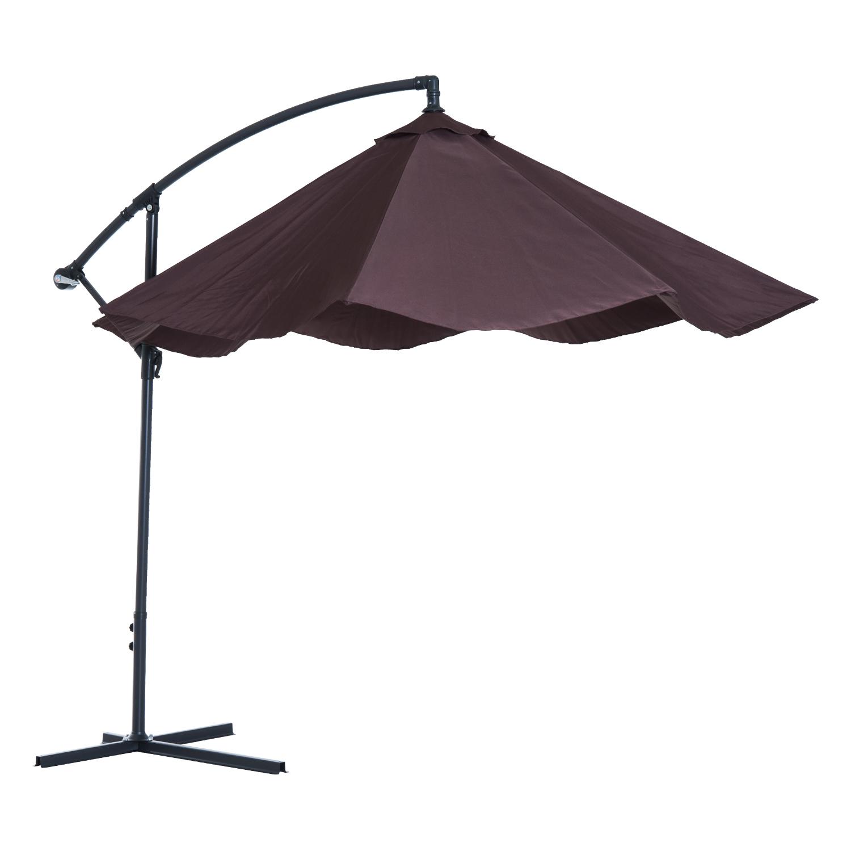 Outsunny-10-039-Deluxe-Patio-Umbrella-Outdoor-Market-Parasol-Banana-Hanging-Offset thumbnail 19