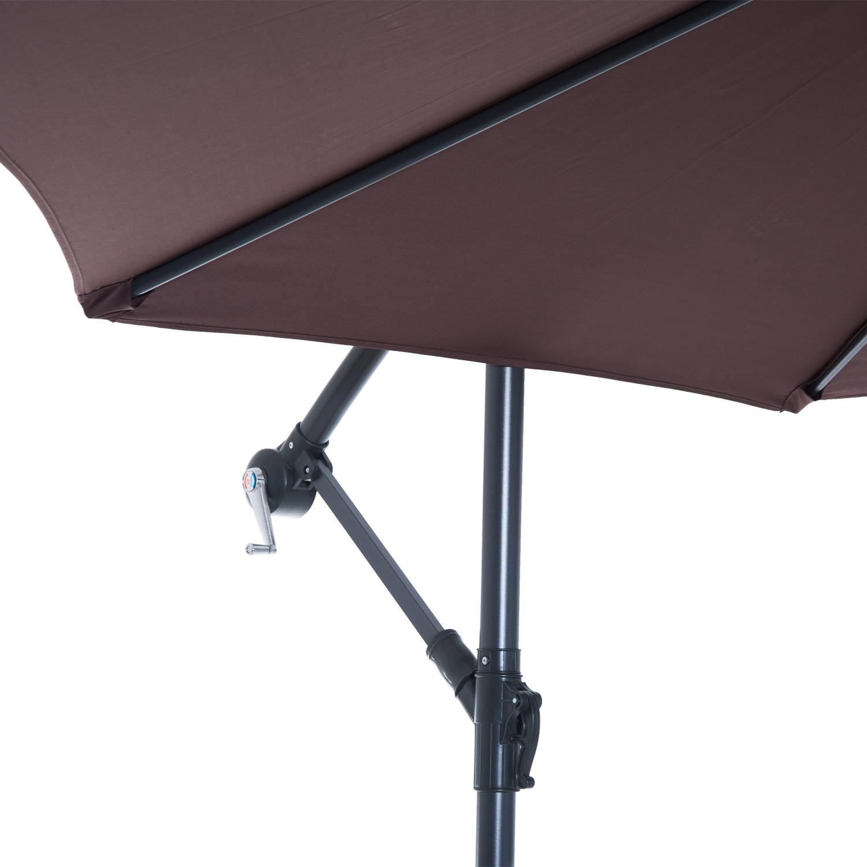 Outsunny-10-039-Deluxe-Patio-Umbrella-Outdoor-Market-Parasol-Banana-Hanging-Offset thumbnail 20
