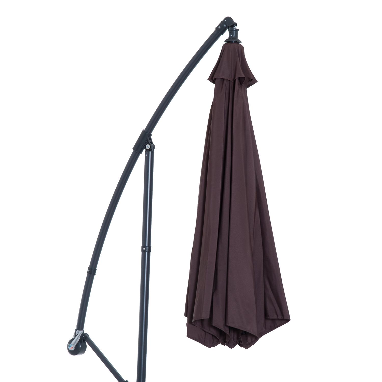 Outsunny-10-039-Deluxe-Patio-Umbrella-Outdoor-Market-Parasol-Banana-Hanging-Offset thumbnail 21