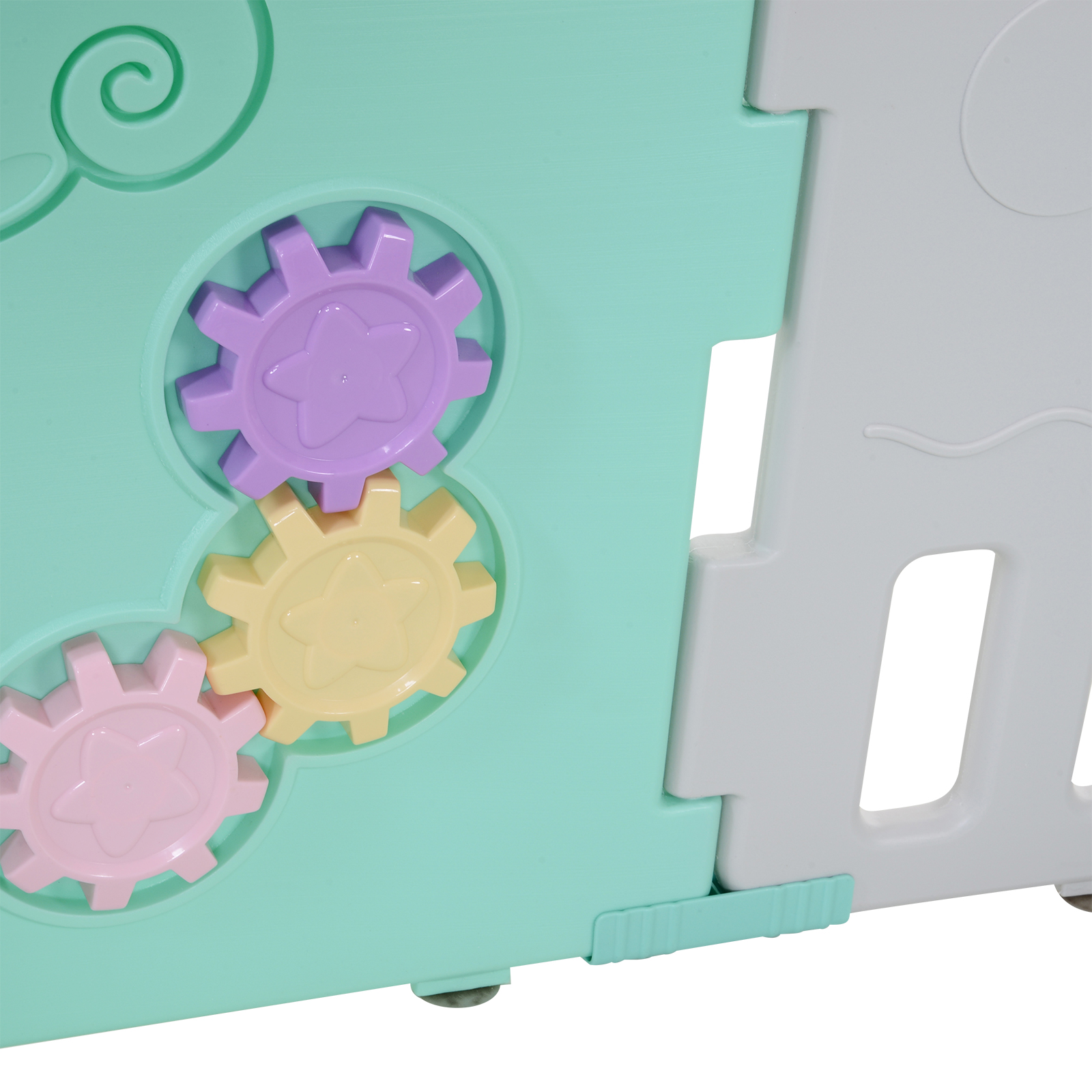 Qaba-16-Pcs-Safety-Children-Playpen-Green-Game-Panel-Anti-Pushing-Over thumbnail 17