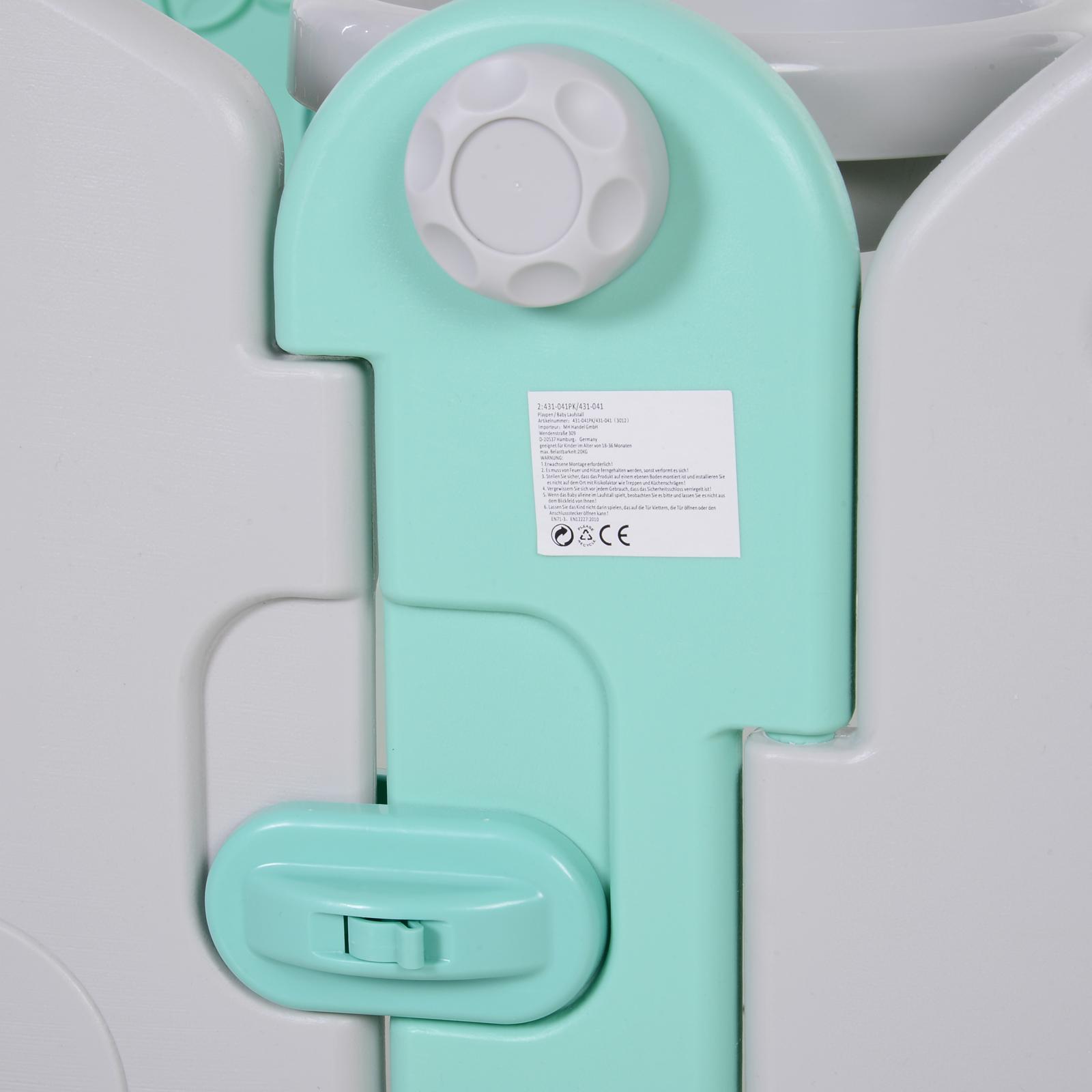 Qaba-16-Pcs-Safety-Children-Playpen-Green-Game-Panel-Anti-Pushing-Over thumbnail 16