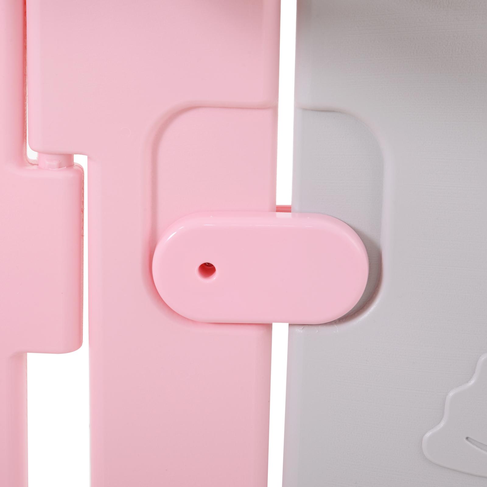 Qaba-14-Pcs-Safety-Children-Playpen-Pink-Game-Panel-Anti-Pushing-Over thumbnail 27