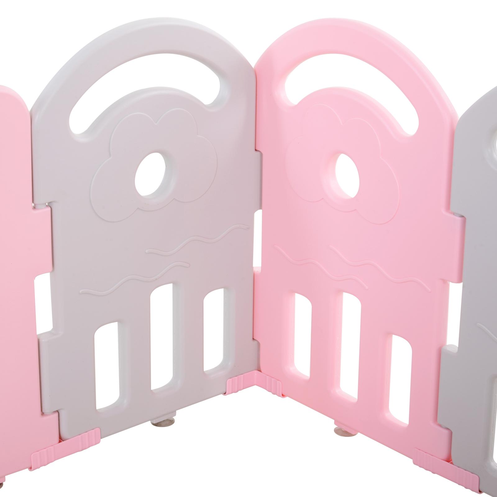 Qaba-14-Pcs-Safety-Children-Playpen-Pink-Game-Panel-Anti-Pushing-Over thumbnail 28