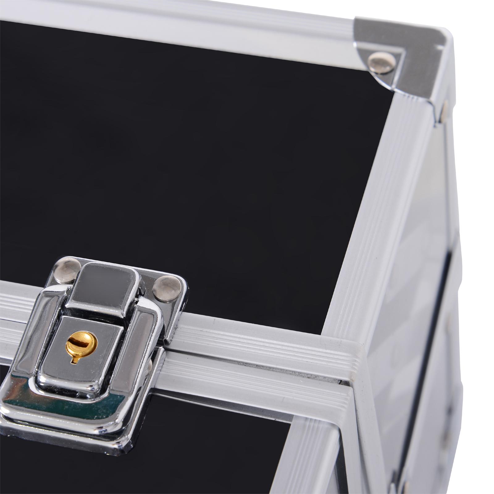 Portable-Makeup-Case-Train-Case-Lockable-Aluminum-with-4-Trays thumbnail 25