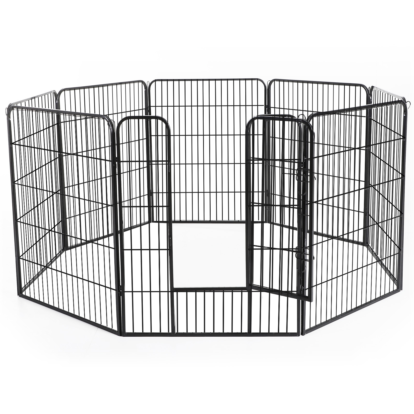 Heavy-Duty-Pet-Playpen-Dog-Exercise-Pen-Cat-Fence-Black-8-Panel-24-034-32-034-39-4-034 thumbnail 19