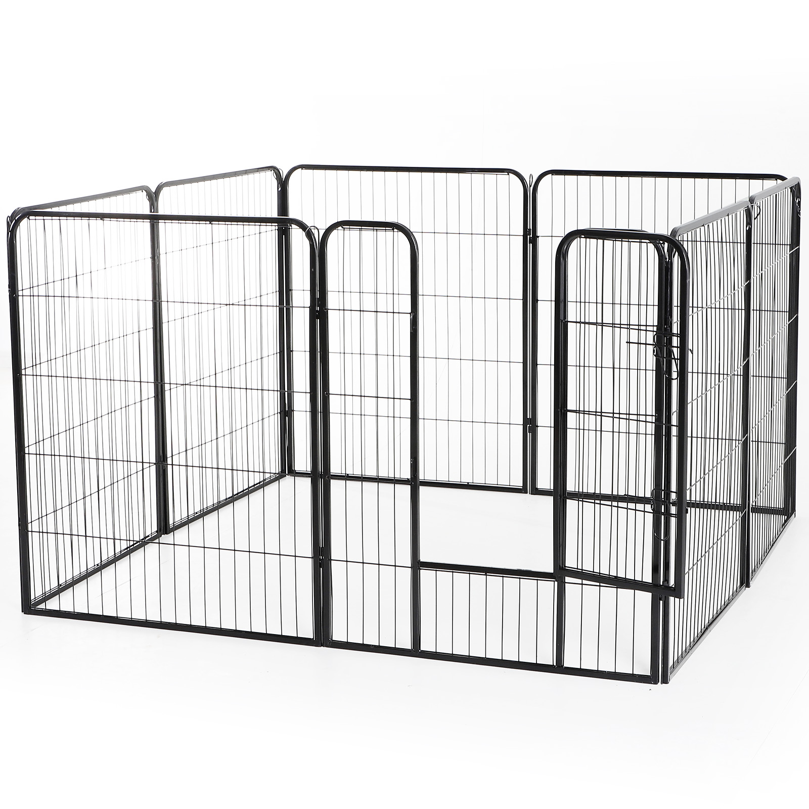 Heavy-Duty-Pet-Playpen-Dog-Exercise-Pen-Cat-Fence-Black-8-Panel-24-034-32-034-39-4-034 thumbnail 20