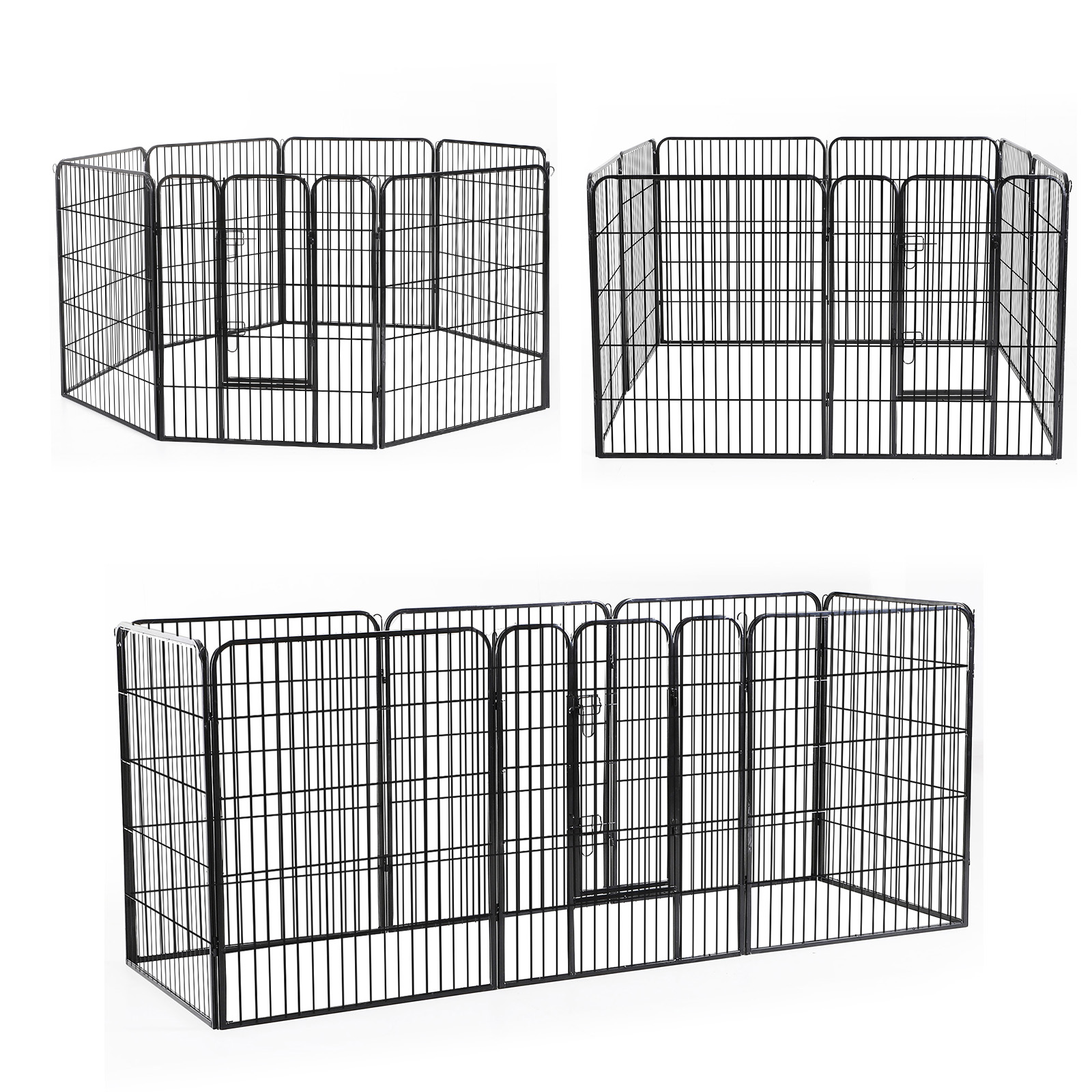 Heavy-Duty-Pet-Playpen-Dog-Exercise-Pen-Cat-Fence-Black-8-Panel-24-034-32-034-39-4-034 thumbnail 16