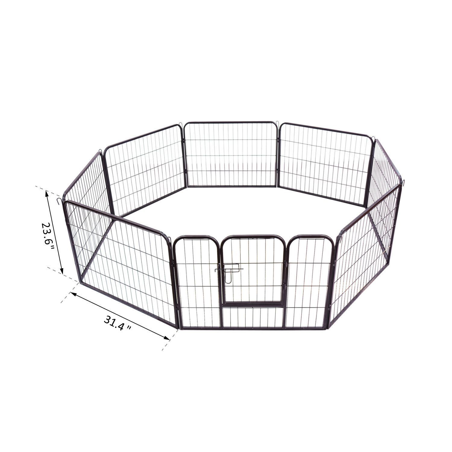 Heavy-Duty-Pet-Playpen-Dog-Exercise-Pen-Cat-Fence-Black-8-Panel-24-034-32-034-39-4-034 thumbnail 3