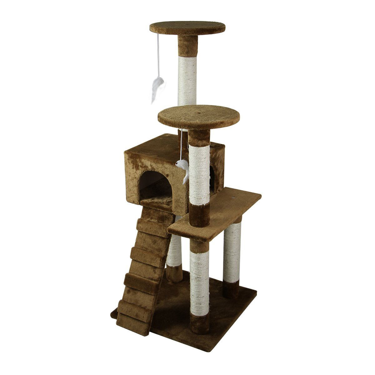 52-039-039-Cat-Tree-Multi-Level-Tower-Kitten-Condo-House-Activity-Center-Pet-Furniture thumbnail 14