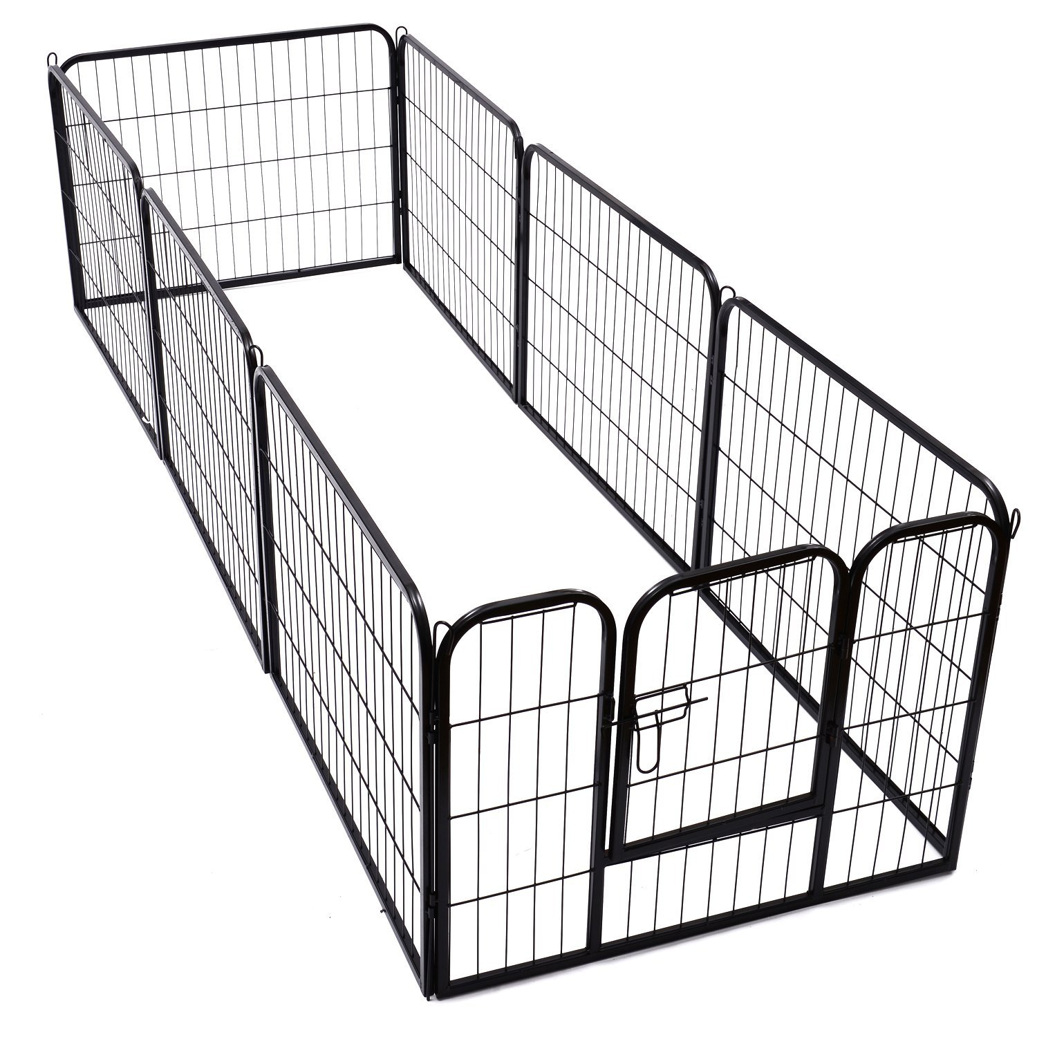 Heavy-Duty-Pet-Playpen-Dog-Exercise-Pen-Cat-Fence-Black-8-Panel-24-034-32-034-39-4-034 thumbnail 8