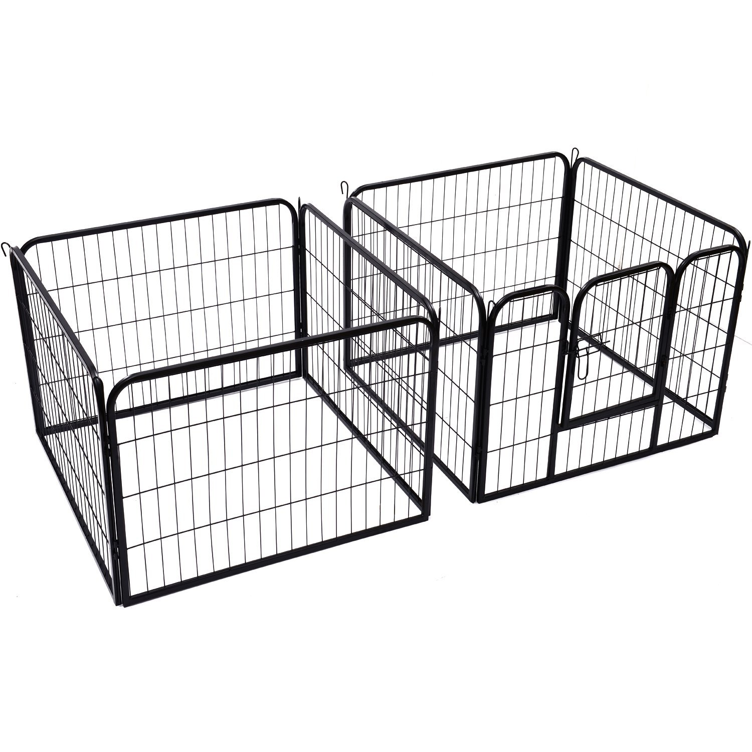 Heavy-Duty-Pet-Playpen-Dog-Exercise-Pen-Cat-Fence-Black-8-Panel-24-034-32-034-39-4-034 thumbnail 10