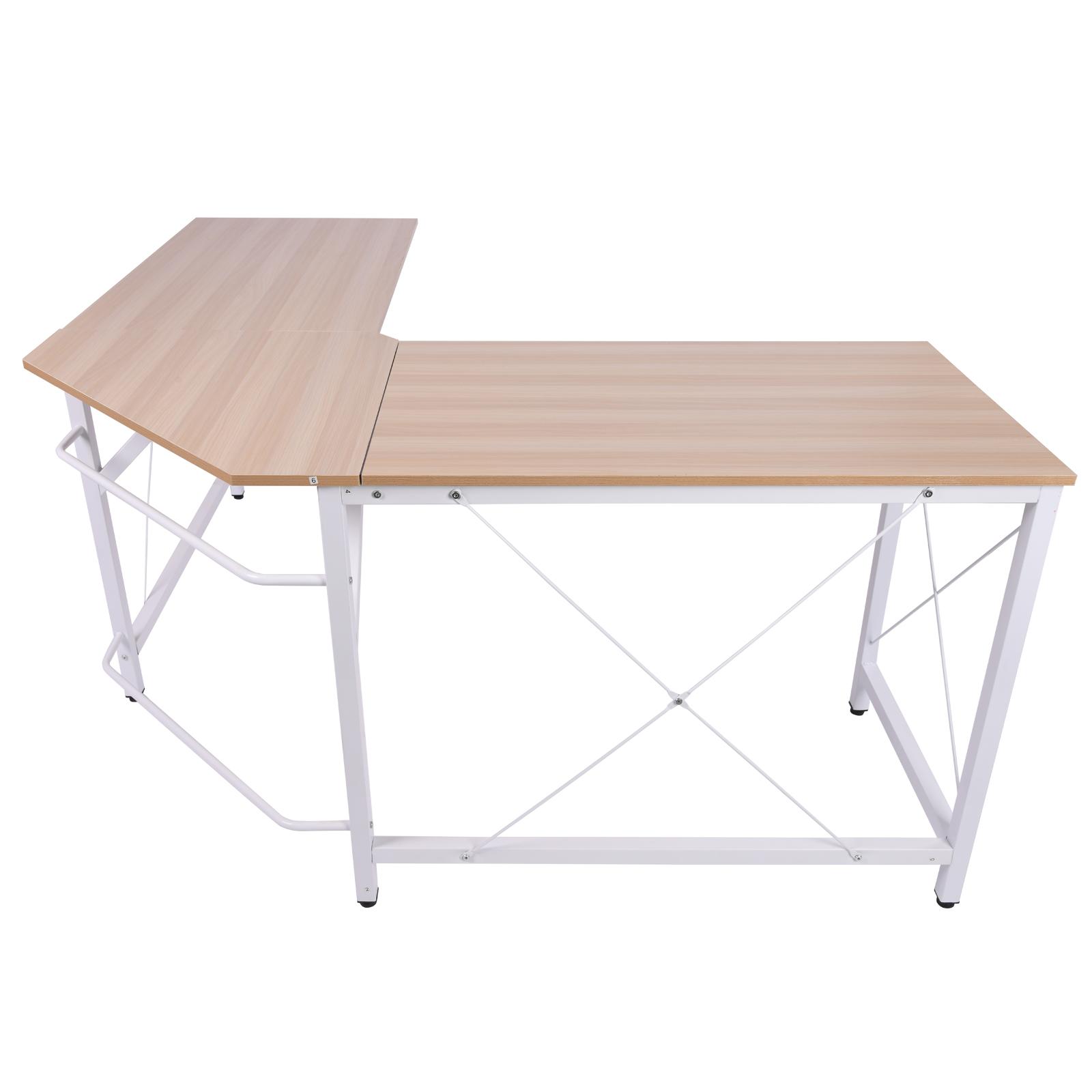 L-Shaped-Computer-Desk-Office-Wood-Corner-PC-Workstation-Large-Gaming-Desk-Table miniature 18