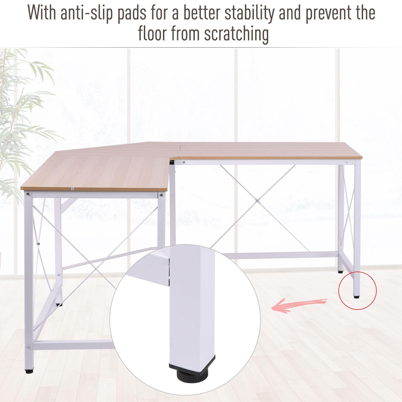 L-Shaped-Computer-Desk-Office-Wood-Corner-PC-Workstation-Large-Gaming-Desk-Table miniature 15