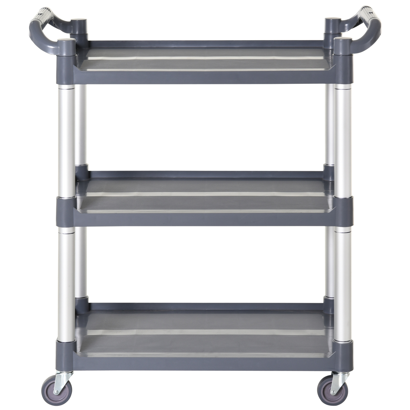HOMCOM-3-Tier-Metal-Trolley-Serving-Cart-Free-Moving-Kitchen-Livingroom thumbnail 6