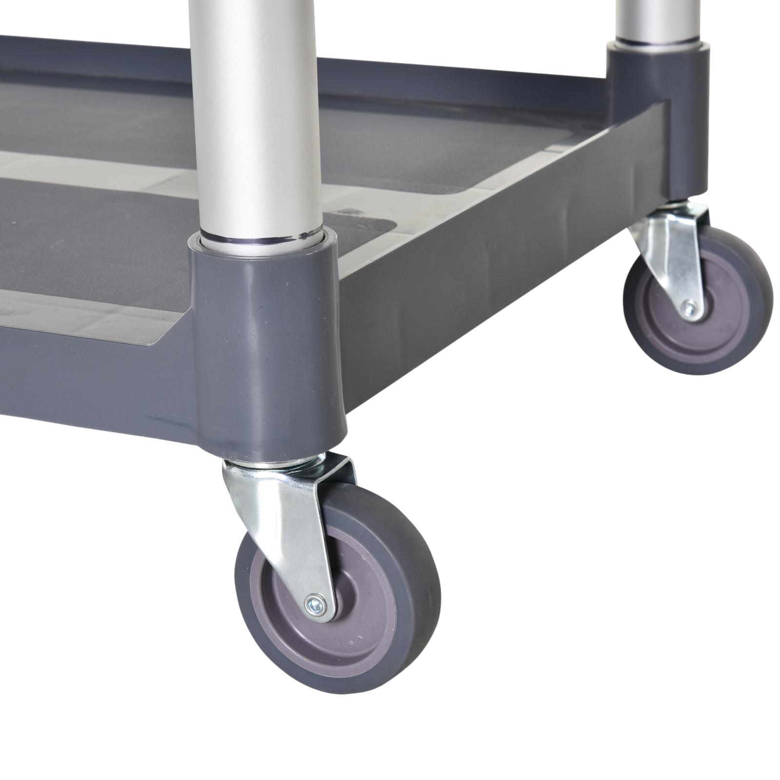 HOMCOM-3-Tier-Metal-Trolley-Serving-Cart-Free-Moving-Kitchen-Livingroom thumbnail 9