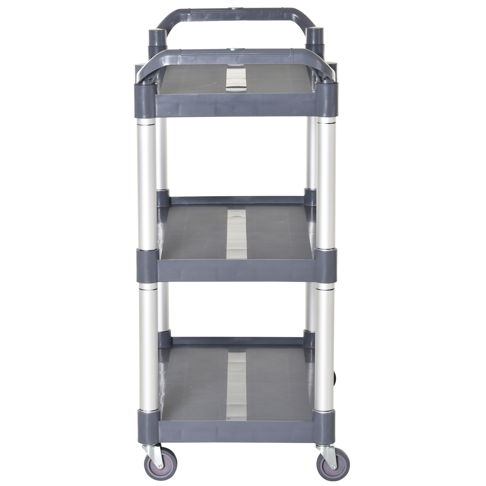 HOMCOM-3-Tier-Metal-Trolley-Serving-Cart-Free-Moving-Kitchen-Livingroom thumbnail 7