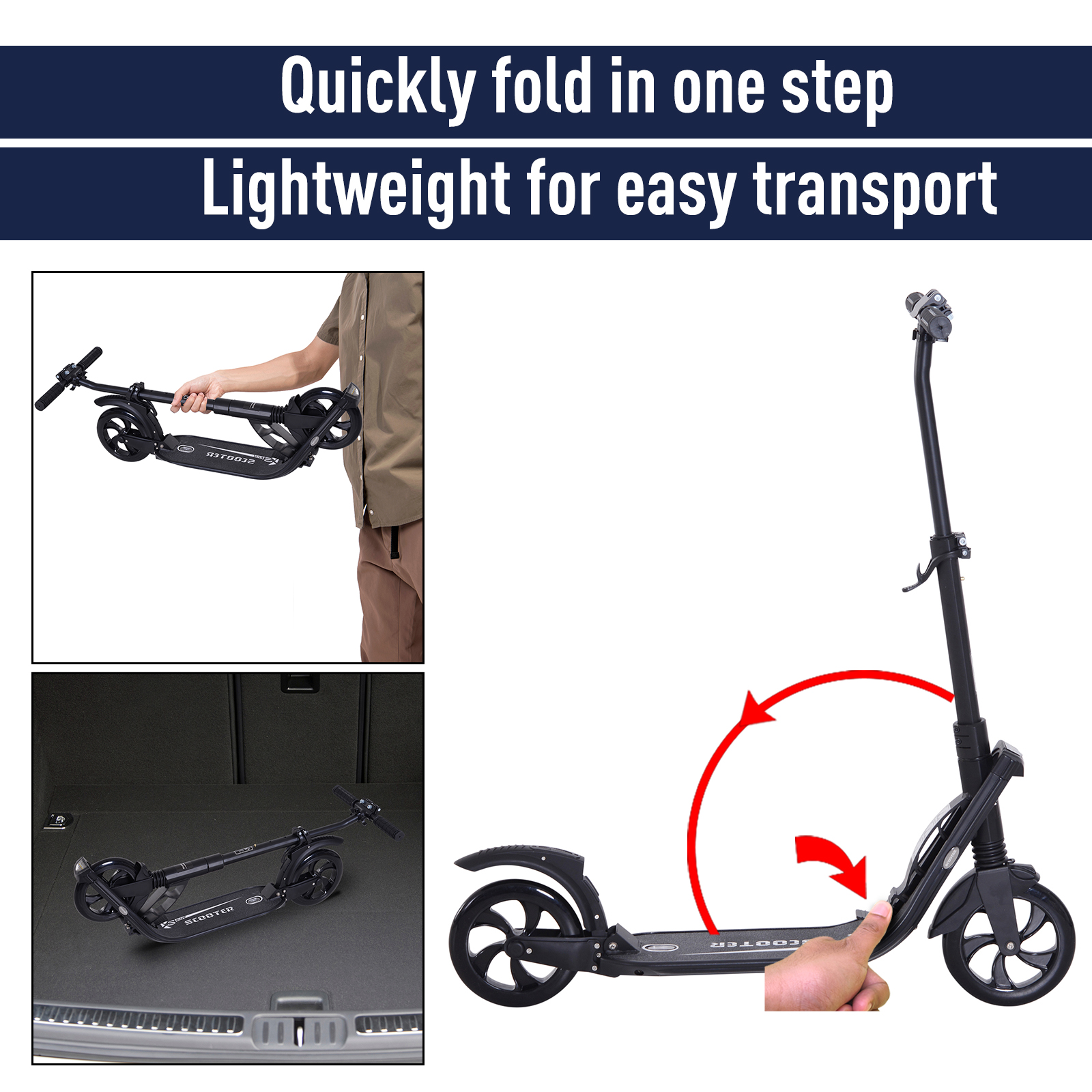 Teens-Adult-Folding-Electric-Scooter-Teenager-Rider-With-Brakes-and-Kickstand miniature 13
