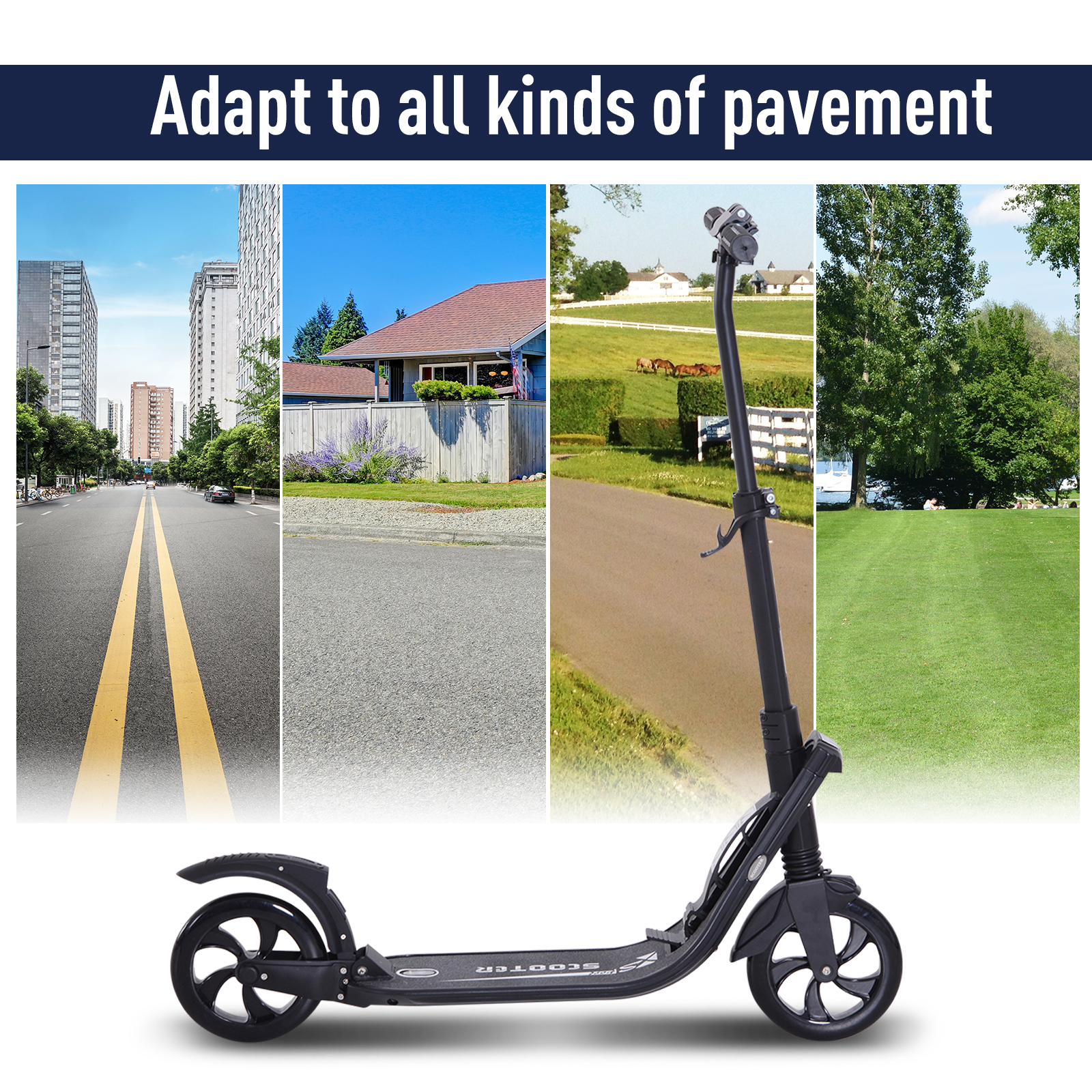 Teens-Adult-Folding-Electric-Scooter-Teenager-Rider-With-Brakes-and-Kickstand miniature 16
