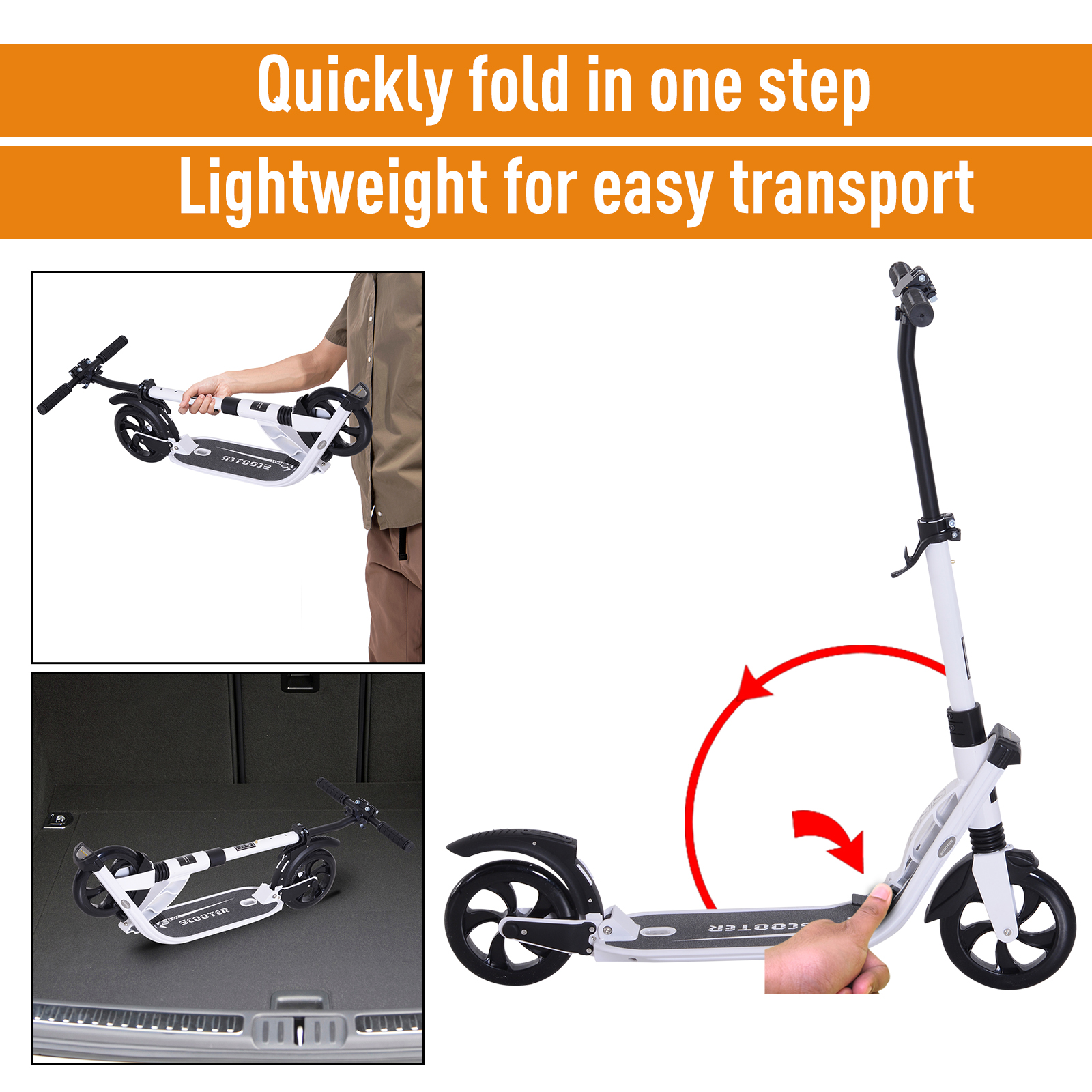 Teens-Adult-Folding-Electric-Scooter-Teenager-Rider-With-Brakes-and-Kickstand miniature 23