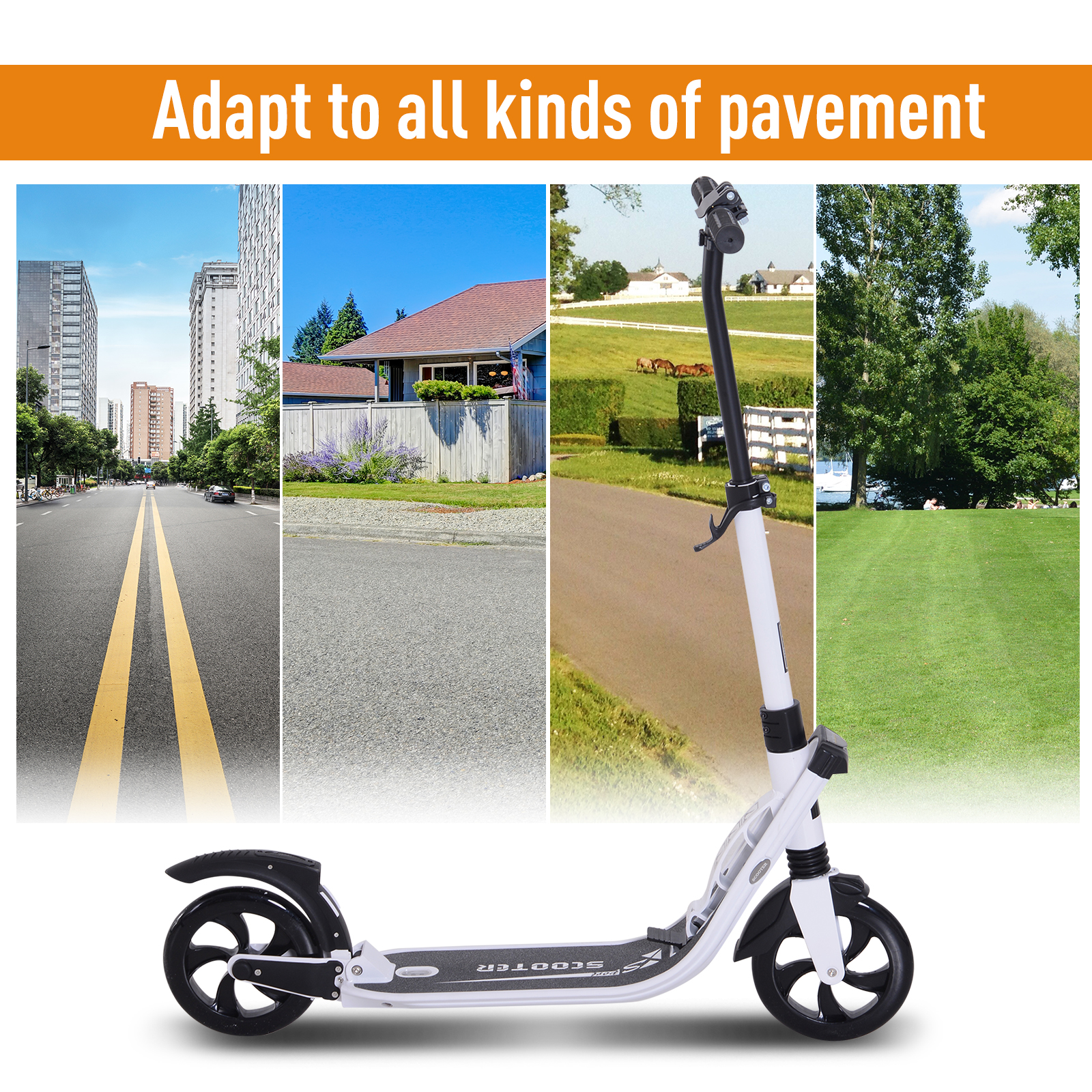 Teens-Adult-Folding-Electric-Scooter-Teenager-Rider-With-Brakes-and-Kickstand miniature 26
