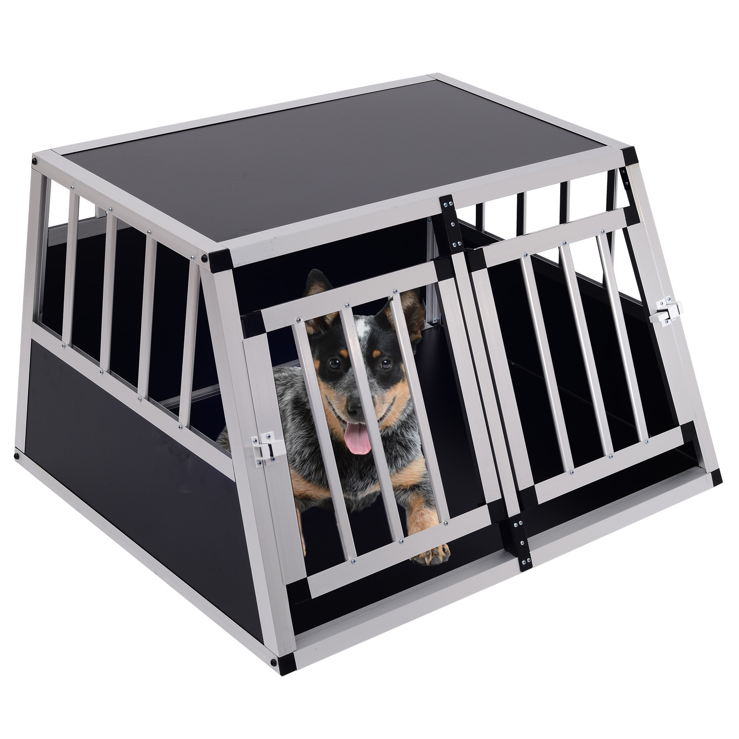 Aluminum Dog Cage Pet Transport Box Crate Door Divider Kennel