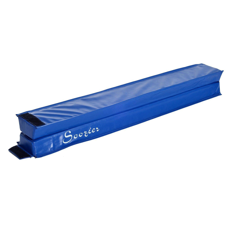 8FT-Folding-Floor-Balance-Beam-Foam-Gymnastic-Training-Low-Height-Beam-3-Color thumbnail 4