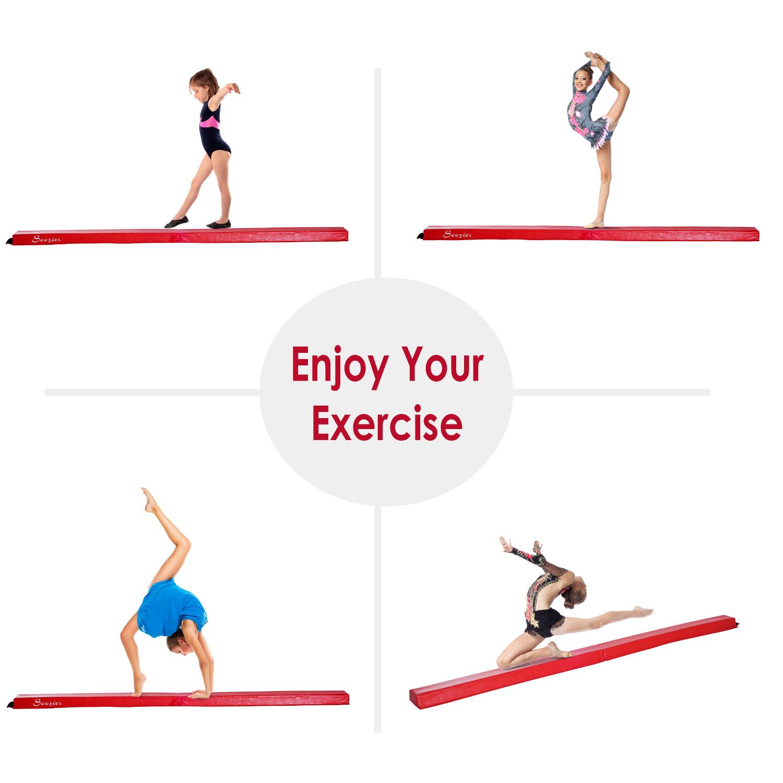 8FT-Folding-Floor-Balance-Beam-Foam-Gymnastic-Training-Low-Height-Beam-3-Color thumbnail 37